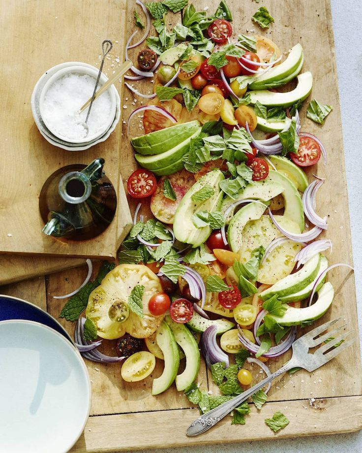 Avocado Heirloom Tomato Salad from www.whatsgabycooking.com  - perfect for a Father's Day Menu this weekend!  (@whatsgabycookin)