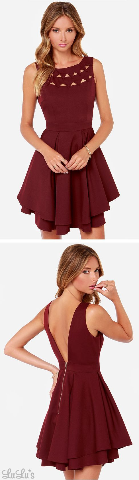 Dresses - LULUS Exclusive Flirting With Danger Cutout Burgundy Dress. But maybe a different color