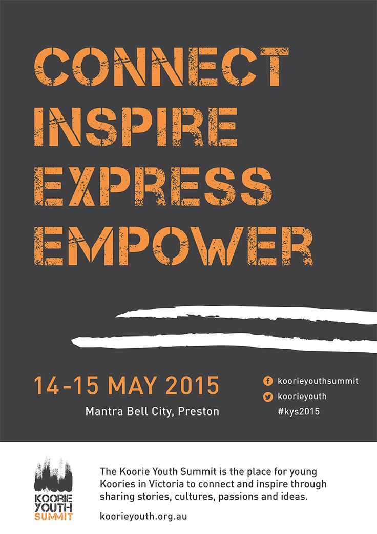 Koorie Youth Summit 2015 event poster