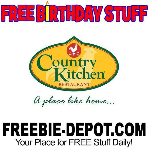 ►► BIRTHDAY FREEBIE - Country Kitchen Restaurant ►► #BDay, #Birthday, #BirthdayFreebie, #BirthdayGift, #FreeBirthdayStuff, #FrugalFind, #FrugalLiving, #HappyBirthday ►► Freebie Depot