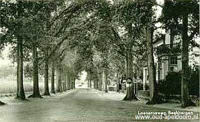 Bèkbargen / Beekbergen - Loenenseweg → Hierlangs kwam je in Loenen. Mijn vriend van die tijd vond het meer 'een oprijlaan van een hotel of zo'. Bus 19 kwam hierlangs. Achter de kijker was het zonnenhuis, links later 'de vier dorpen', waar mijn grootouders een tijdje gewoond hebben.