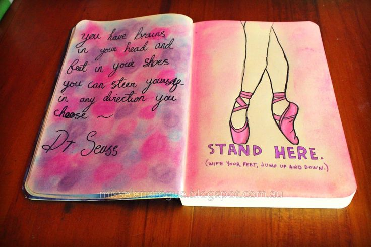 Stand here, wipe your feet, jump up and down. Wreck this journal ideas.