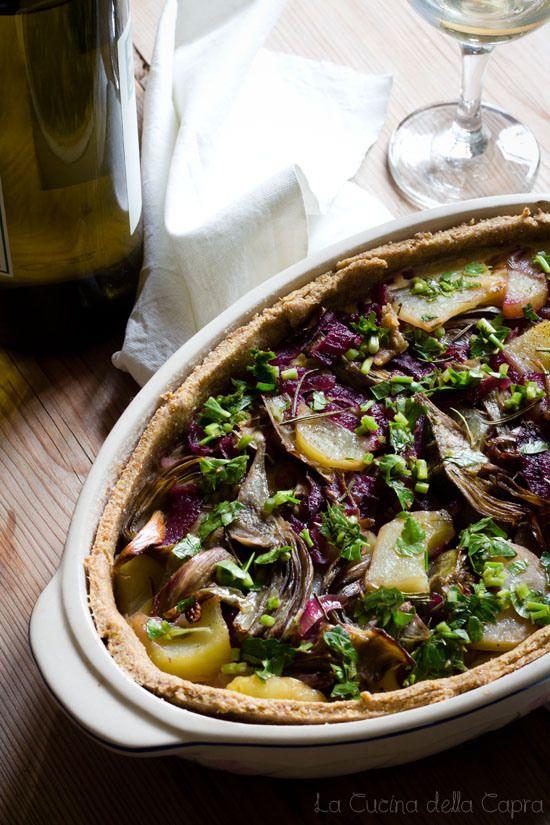 Quiche con carciofi e patate | Quiche and Vegans