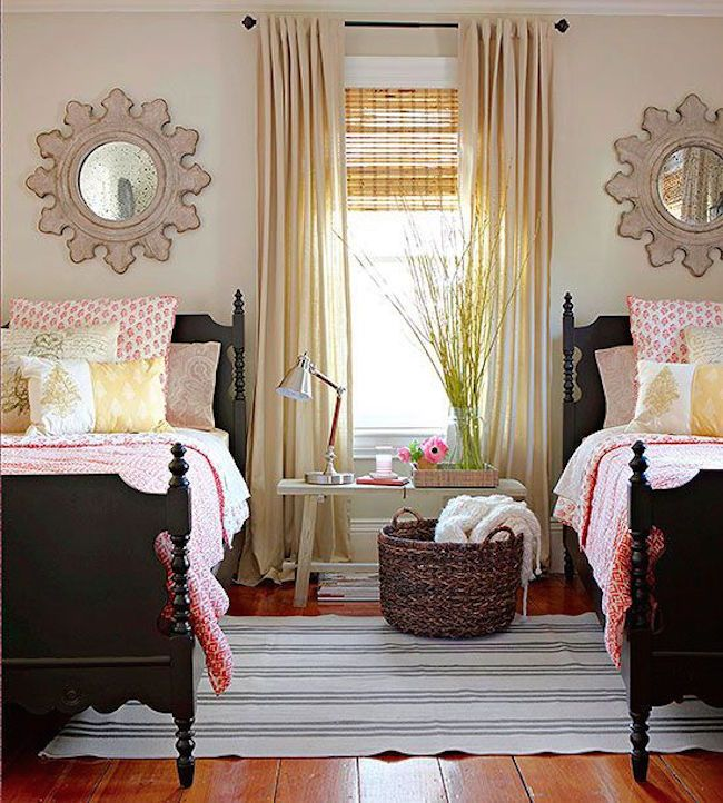 Delightful Beautiful Country Living Guest Room With Twin Beds   Decoist