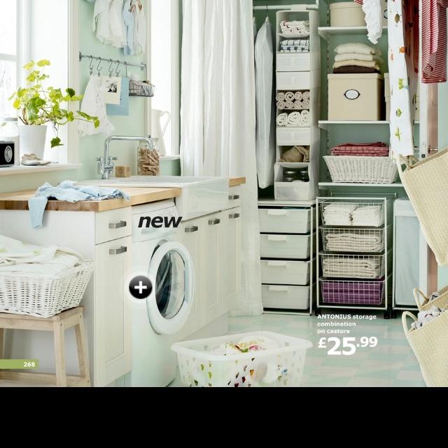 Pretty ikea laundry room ideas