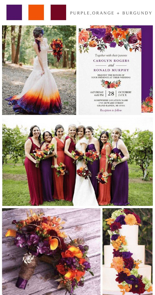 Top 8 October Wedding Colors For Your Fall Wedding Colors For Wedding In 2020 Wedding Colors October Wedding Colors Fall Wedding Color Palette