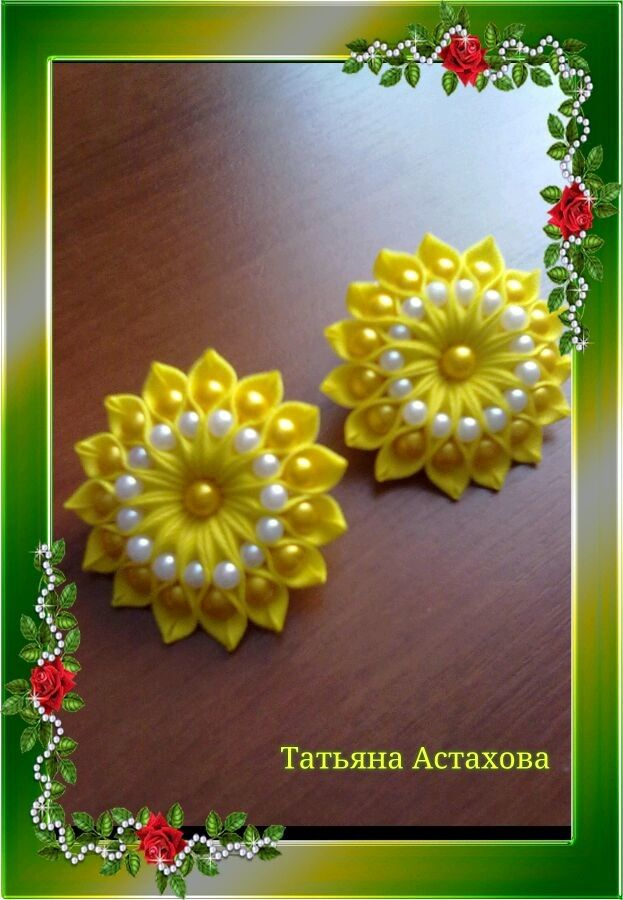 embroidery kanzashi flowers tutorials kanzashi vhe origami kanzashi