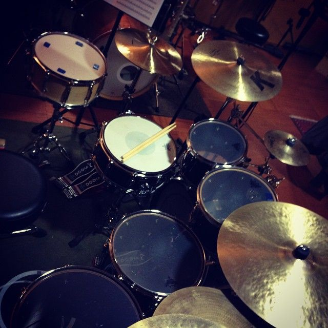 My drums in the studio!