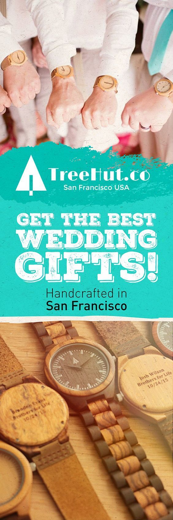 Give a unique, handcrafted wedding gift from Treehut Co. in San Francisco.