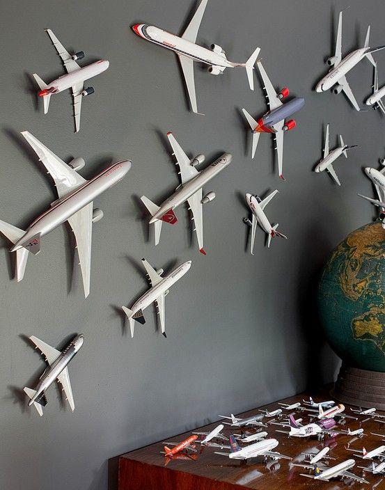 Decorar con aviones   Decoración Hogar, Ideas y Cosas Bonitas para Decorar el Hogar