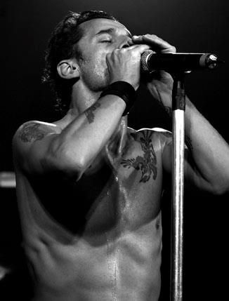 Dave Gahan, lead singer of Depeche Mode [Enjoy The Silence] https://www.youtube.com/watch?v=GnFWXPM7Rno