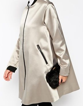 Enlarge ASOS Bomber Coat In Trapeze Fit