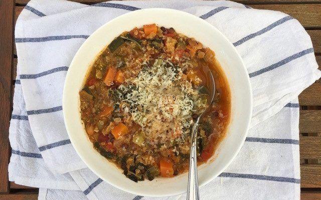 Super protein minestrone – Recipe courtesy of Christina Ross, APD