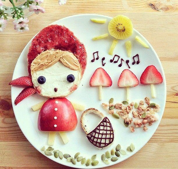 Cappuccetto rosso (idee-per-far-mangiare-verdure-ai-bambini) by Samantha Lee