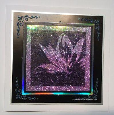 Handmade card by Sue Baker. Starlights, Sparkle Medium, Art Stamps.