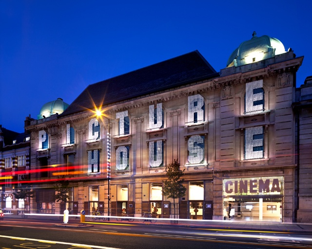 hackney picture house in london - brand new cinema that screens the latest releases and art house flicks. Great date place as it has a nice ground floor restaurant and a bar called the attic at the top.