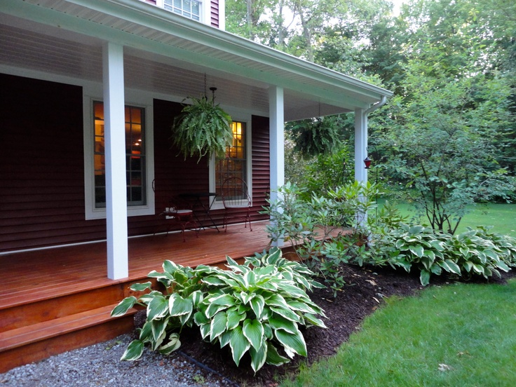 Front Landscaping With Hostas Outside Areas Pinterest