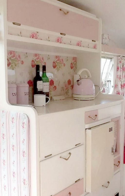 Roses in our camper ~Debbie Orcutt ❤