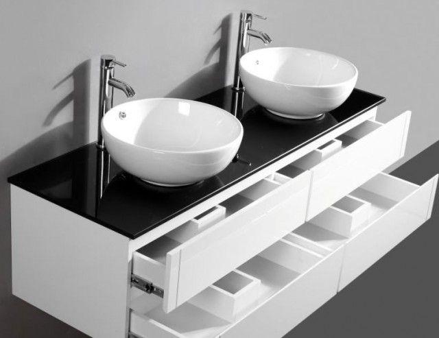 Oltre 25 fantastiche idee su doppio lavandino del bagno su - Lavandino doppio bagno ...