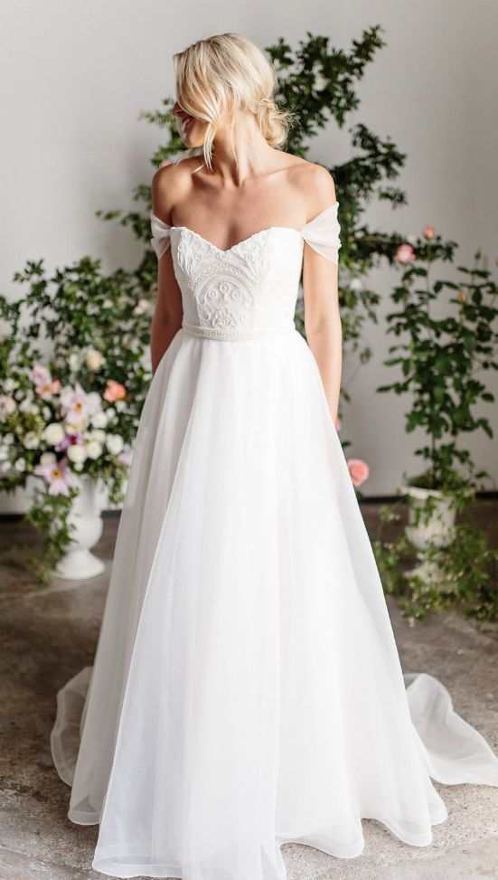 Featured Dress: Karen Willis Holmes; Wedding dress idea.
