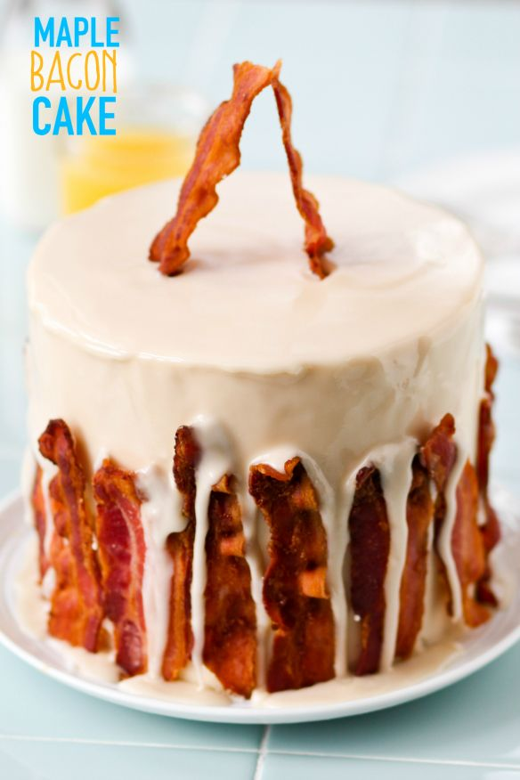 Maple Bacon Cake - Confessions of a Cookbook Queen
