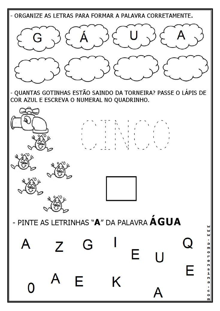 Resultado de imagem para atividades tema agua educação infantil