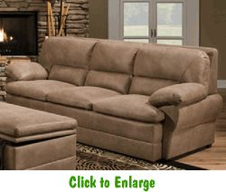 Dunkirk Pecan Sofa By Simmons At Furniture Warehouse | The $399 Sofa Store  | Nashville,
