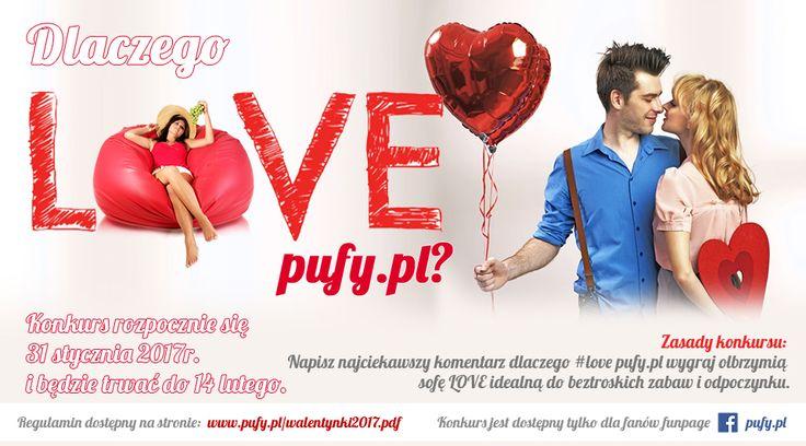 """💗 Konkurs Walentynkowy 💗  ❗❗ OSTATNIE CHWILE ❗❗  Do wygrania ogromna pufa o wartości prawie 400 złotych!  Bardzo proste pytanie! """"Dlaczego #love pufy. pl?""""  Podpowiadamy: #love pufy.pl za najwyższą jakość!  Więcej szczegółów pod naszym potem konkursowym, pod którym prosimy umieszczać Wasze odpowiedzi!  #walentynki #14lutego #pufypl #konkurs #prezent #prezentnawalentynki #ogromnapufa #pufa"""