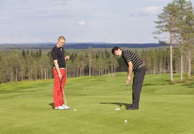 Arctic Golf at Resort Ounasvaara, Rovaniemi, Lapland, Finland