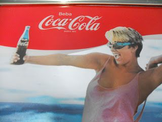 decoración vintage, antiguitats-baraturantic: Espejo Publicidad Coca-cola, Cocacola Años 80's Ra...