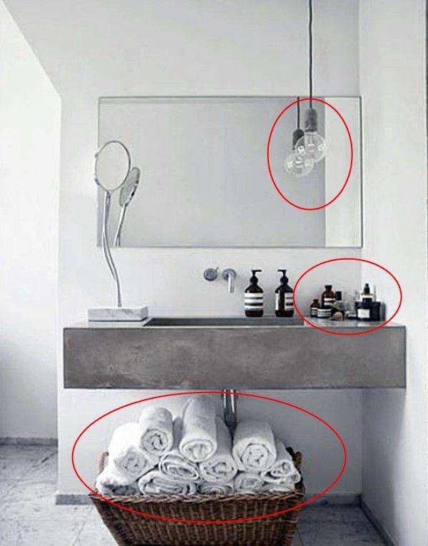 Há algumas coisas que vc não deve fazer ou guardar no banheiro ou lavabo. Veja aqui