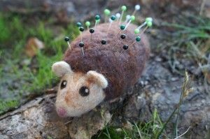 Hedgehog pincushion from Good Natured by Dani