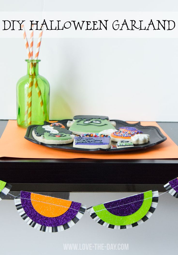 diy halloween garland made with cricut explore love the day designspacestar round