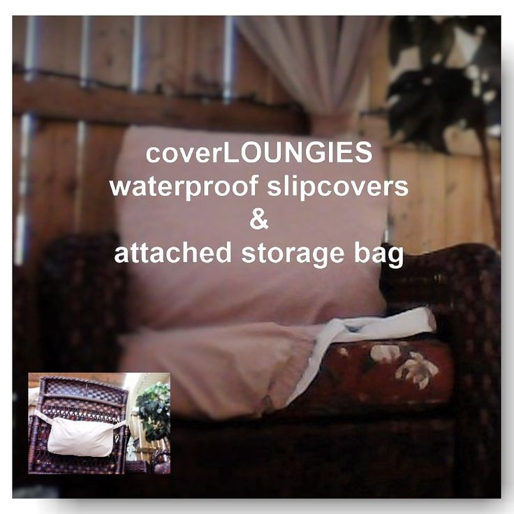 PROTECT your new outdoor furniture cushions with CoverLOUNGIES. Keep your investment in great condition.