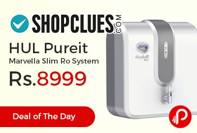 Shopclues #DealofTheDay is offering 25% off on HUL Pureit Marvella Slim Ro System at Rs.8999 Only. Phenomenal RO purifier effectively destroys disease-causing bacteria and viruses. Purification 6 Stages, 4 Ltr Storage Capacity.   http://www.paisebachaoindia.com/hul-pureit-marvella-slim-ro-system-at-rs-8999-only-shopclues/