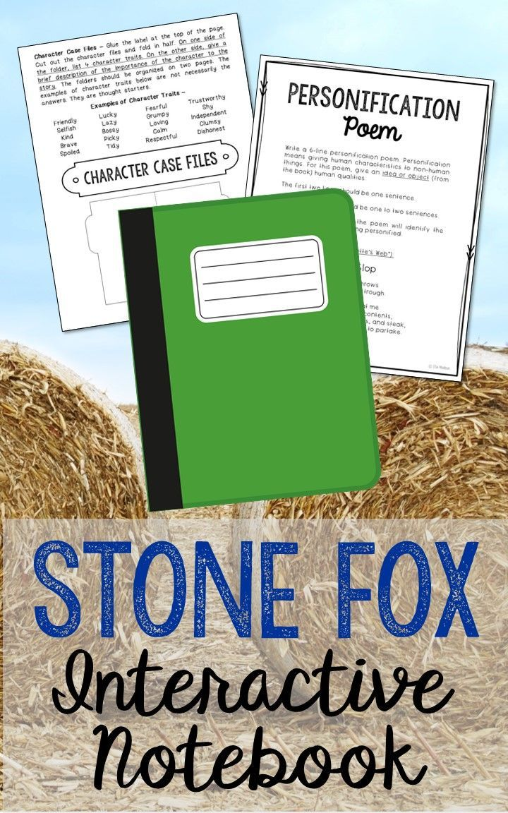 Stone Fox by John Reynolds Gardiner. Low Prep and Stress-Free Interactive Notebook. This novel unit includes vocabulary terms, poetry, author biography research, themes, character traits, one-sentence chapter summaries, and note taking activities. A great variety of activities to keep your students engaged! This is a complete unit, but can be added to the materials you already have on hand. I use this INSTEAD of multiple choice comprehension tests!