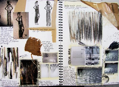 I like the layout of this sketchbook as it's a bit more messy compared to my other posts. I like the use of annotation and different papers to give it a collage textured look. I also like the idea of annotating on masking tape.