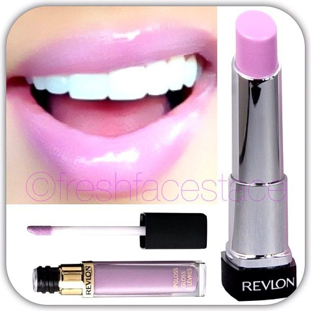 MOST AMAZING LIPPY DUO EVER REVLONS LIP BUTTER IN 'GUMDROP' LAYERED WITH REVLons lilac pastelle