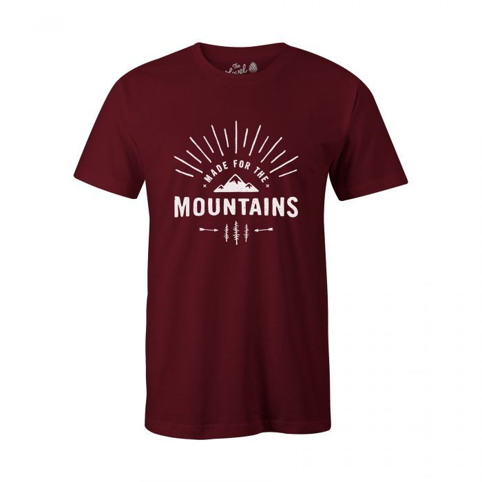 Made for the mountains t-shirt red mens   #adventure #outdoors #wanderlust #illustration #camping #explore #travel #wanderlust #outsider #outdoors  #t-shirt #tshirt #tee #graphictee #illustration #handmade #typography #mountains