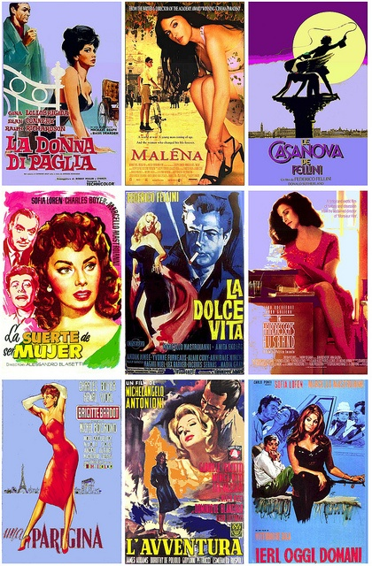 Exotic Italian movies [or actresses], via Flickr.  FalconWriting.com.au: Classic Movie, Italian Cinema, Italian Film, Comic Books, Italian Movie, Italian Film, Photo, Actresses