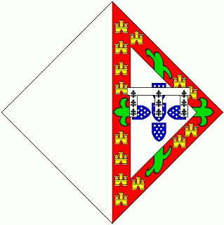 Heráldica Real Portuguesa: Lisonja de armas de D. Filipa, filha do Infante D. Pedro