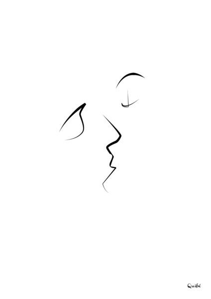 Kiss by Quibe (Christophe Louis) The lines between us blur when we are enrapt within a kiss….