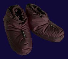 maybe these would keep my feet warm?Teanaway Down Slippers, by Nunatak Gear