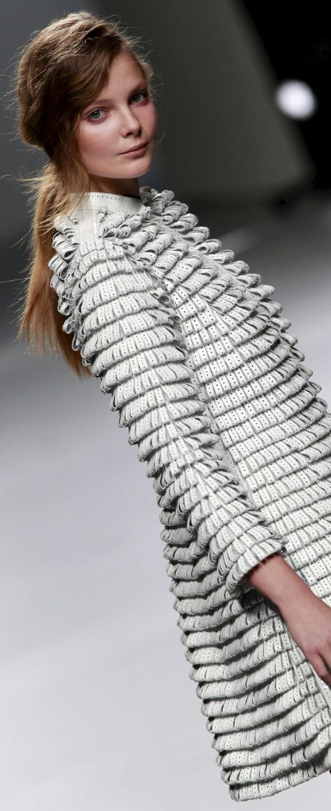 Jacket with Looped Textures - surface creation using fabric manipulation techniques for fashion // Teresa Helbig