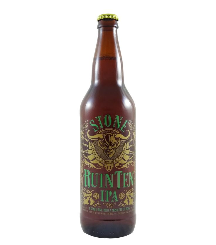 Stone RuinTen IPA uses the same recklessly hoppy recipe as the 2012 release; only the name has changed, as they plan to unleash this belligerently delicious hop monster upon the public annually from now on. They packed a whopping five pounds of hops into each barrel, and cranked up the ABV to stand up to the hop onslaught. The results are glorious, and we know you'll rejoice in tasting this audacious gem of hoppy splendor once again. You're welcome