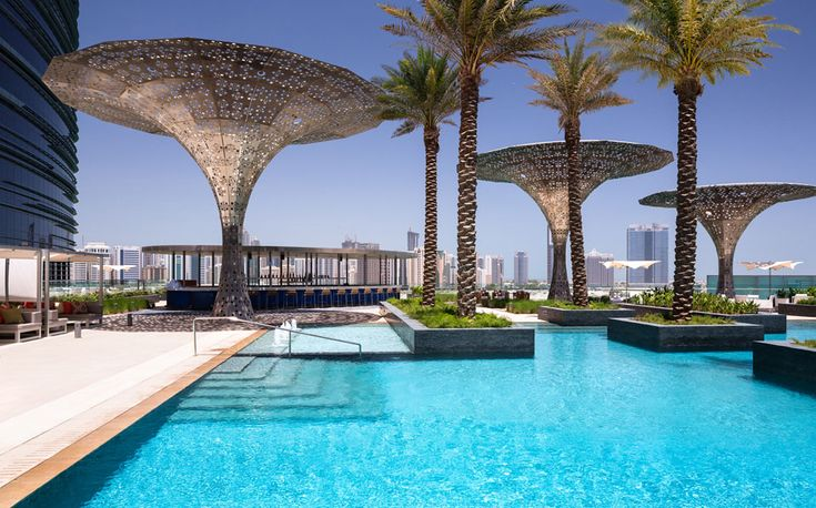 Rosewood Abu Dhabi - PoolThe waterfront hotel is based in Al Maryah Island on the prestigious Abu Dhabi Global Market Square. The island occupies a unique position between Abu Dhabi's existing downtown district, the upcoming developments at Al Reem Island and Mina Zayed, and the new cultural district on Saadiyat Island.