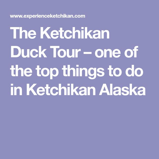 The Ketchikan Duck Tour – one of the top things to do in Ketchikan Alaska