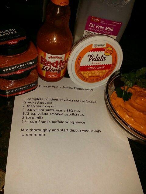 Cheezy Velata Buffalo dipping sauce. OH MY.. so yummy! http://renofunwithfood.velata.us