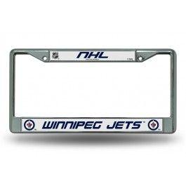 Winnipeg Jets NHL Chrome License Plate Frame