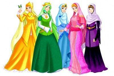 Muslim girls anime